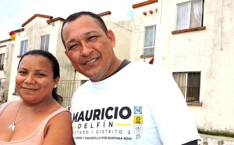 El candidato Mauricio Delfín Avendaño afirmó que trabajará por la locación y así mismo transmitiendo a los habitantes que con su apoyo todo es posible.