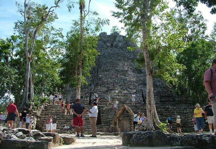 Los guías de turistas de Cobá reportan poca actividad turística durante enero. (Rossy López/SIPSE)