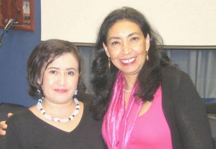 Doctoras Rocío Quintal López y Fátima Flores Palacios, investigadoras del CIR UADY y el CEPHCIS de la UNAM, respectivamente. (Cortesía)