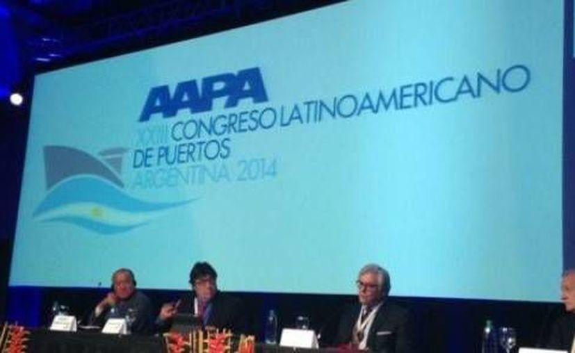 El puerto de Progreso destacó en el XXIII Congreso Latinoamericano de Puertos, que se realiza en Argentina. (Óscar Pérez/SIPSE)