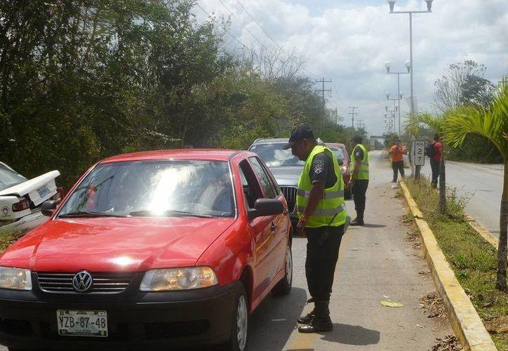 La dirección de Seguridad Pública y Tránsito Municipal implementó un operativo. (Raúl Balam/SIPSE)