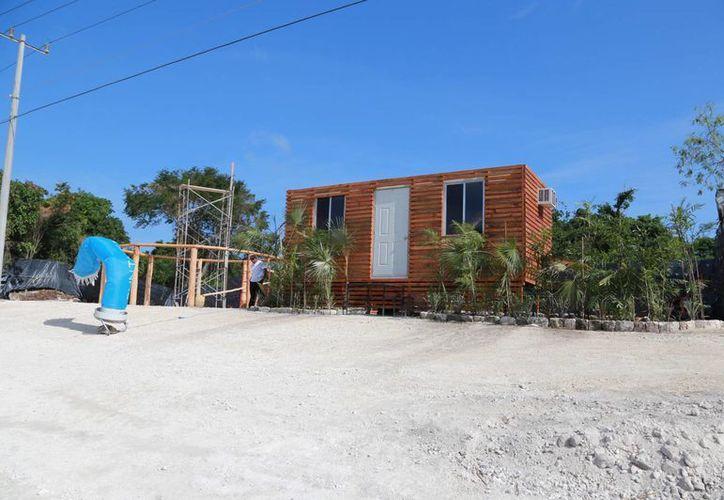 El desarrollo inmobiliario se ubica a la orilla de la carretera federal. (Luis Soto/SIPSE)