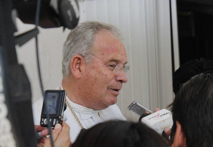 Pedro Pablo Elizondo Cárdenas durante la entrevista. (Jesús Tijerina/SIPSE)