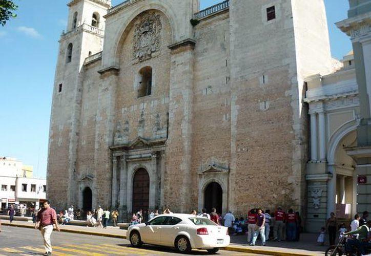 La Catedral de Mérida es el cuarto aspirante a integrar los '7 Tesoros del Patrimonio Cultural de Mérida'. (Foto cortesía del Ayuntamiento de Mérida)