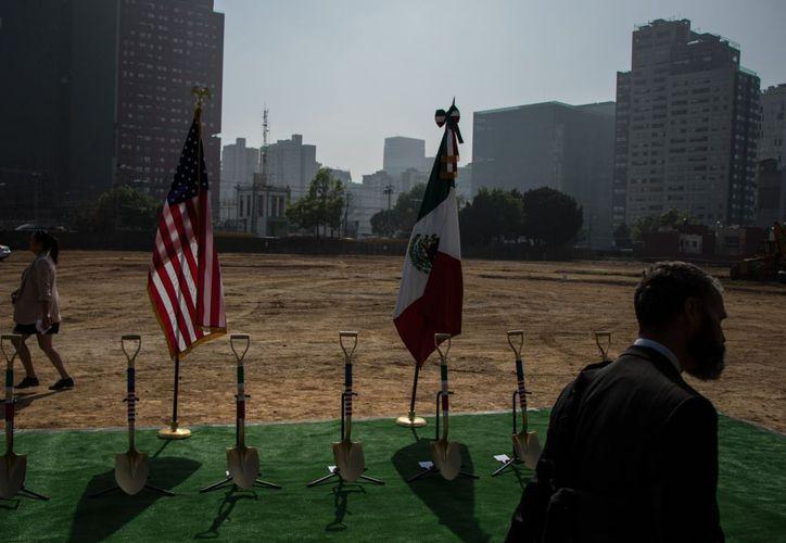 La construcción de la nueva embajada de Estados Unidos en México comenzó en la zona el pasado 13 de febrero. (El Financiero)