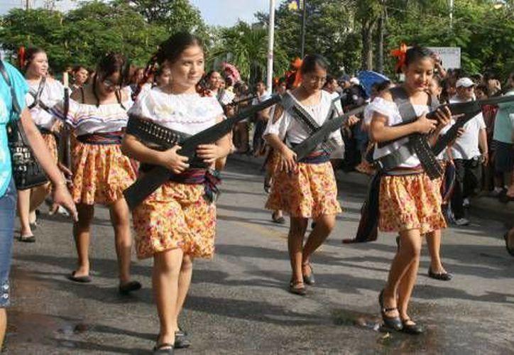 Conmemoración de la Revolución Mexicana. (Contexto/SIPSE)