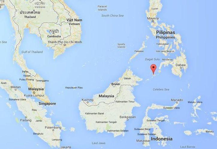 El enfrentamiento entre combatientes de Abu Sayyaf y soldados ocurrió en Sulu.  (Google Maps)