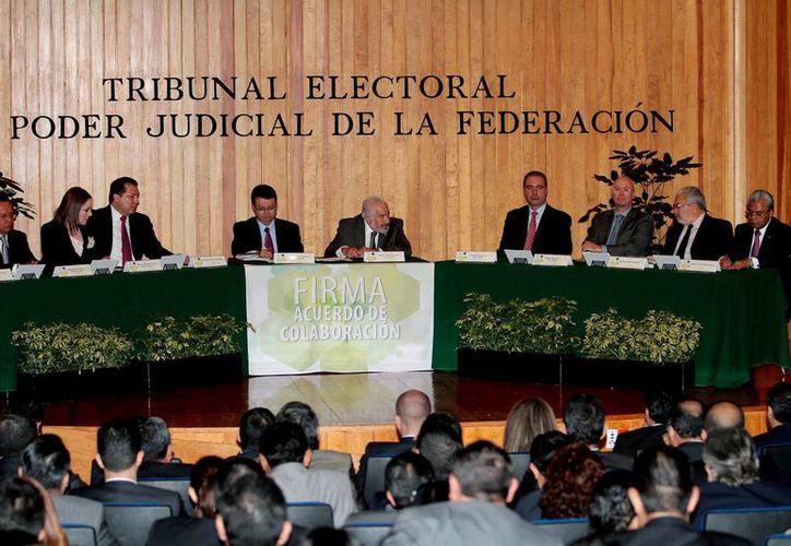 El Pleno de la Sala Regional del Tribunal Electoral del Poder Judicial de la Federación (Tepjf) confirmó el dictamen y resolución de la impugnación interpuesta por el PT. Imagen de contexto de la  Sala Superior del Tepjf. (Archivo/Notimex)