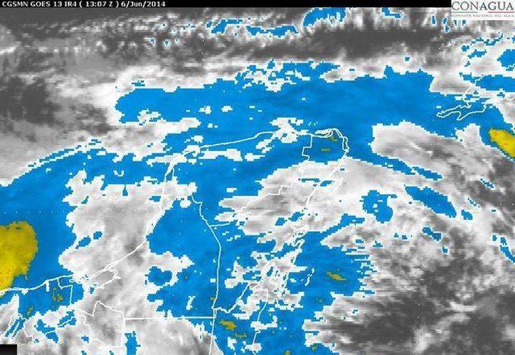 La Península de Yucatán mantendrá cielo nublado, con 80% de probabilidad de lluvias fuertes. (Redacción/SIPSE)