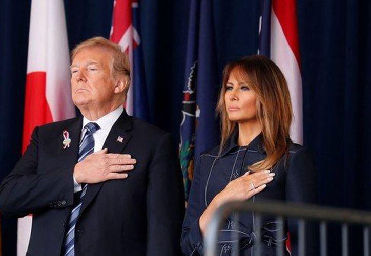 Trump viajó acompañado por su esposa, Melania. (Reuters)
