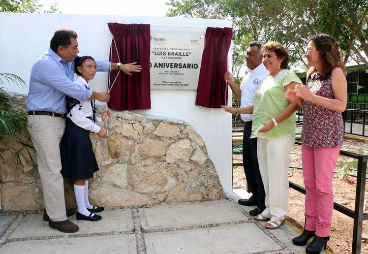 El Centro de Atención Múltiple (CAM), Luis Braille, que cumple 10 años de existencia, ya fue  incluido en el programa Escuelas al CIEN. (Fotos: José Acosta/Milenio Novedades)