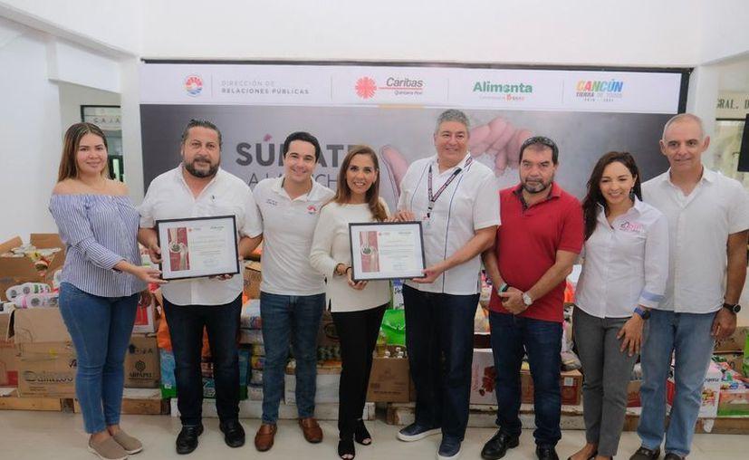 Los productos fueron entregados a Cáritas Quintana Roo. (Cortesía)