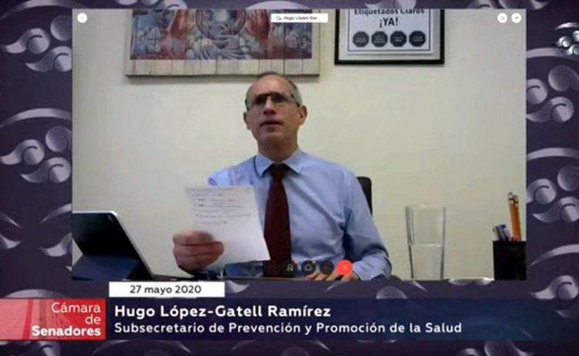 El subsecretario de Salud, Hugo López-Gatell compareció este día ante el Senado de la República. (Foto: Twitter).