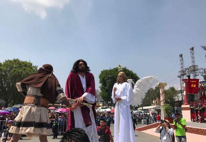 La Pasión y Muerte de Jesucristo en Iztapalapa. (Foto: Milenio)