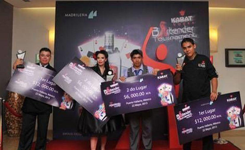 Los finalistas en la categoría de Mixología Tradicional. (Agencias)
