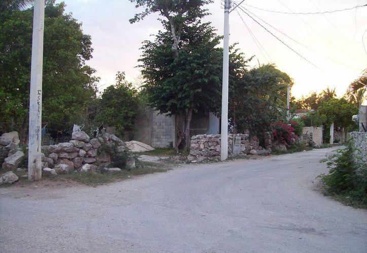 En 2010, el caso de la 'Dama de Negro' causó bastante revuelo en la población de Komchém (imagen), comisaría de Mérida.   (Jorge Moreno)