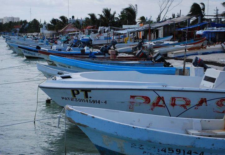Los pescadores suspendieron actividades hasta que mejore el tiempo. (Tomás Álvarez/SIPSE)