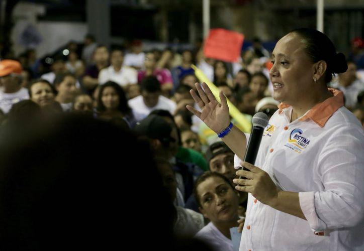 Cristina confirmó que seguirá trabajando para que las familias estén mejor y en paz.