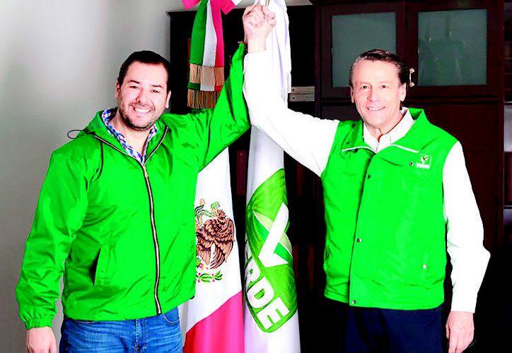 El partido publicó imágenes de Adame con Carlos Madrazo, secretario General del Comité Ejecutivo del PVEM en la Ciudad de México. (Redes Sociales)