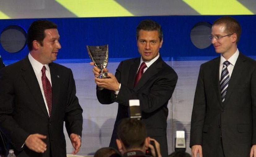 El presidente Peña Nieto clausuró la Reunión Anual de Industriales (Rai) 2013, organizada por la Concamin. (Notimex)