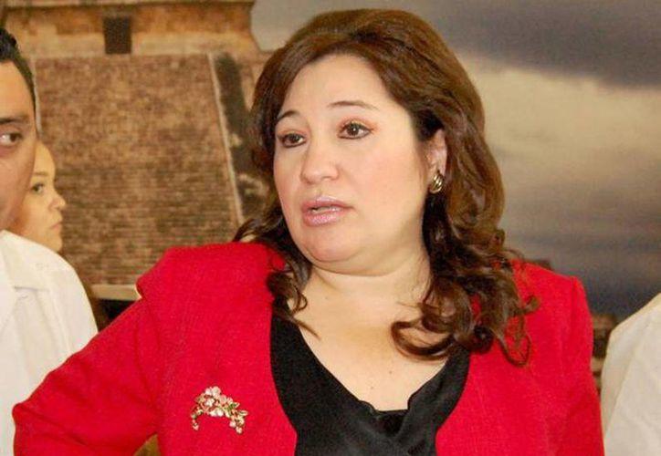 Celia Rivas Rodríguez, presidenta de la Junta de Gobierno y Coordinación Política, propuso se protejan los derechos laborales de los policías ministeriales y los recursos de esa instancia investigadora. (Sipse/archivo)