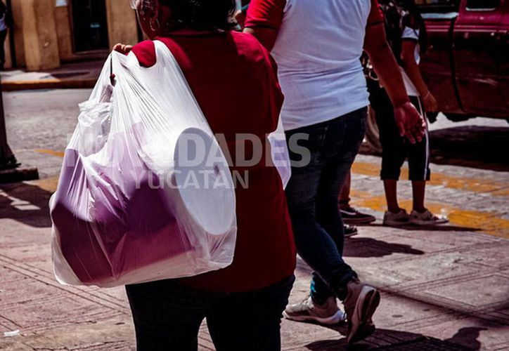 En un periodo de dos años se deberá sustituir las bolsas de transportación y popotes de plástico. (Adán Kent/Novedades Yucatán)