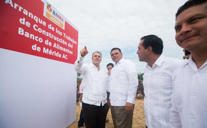 Este martes se inició la construcción del nuevo Banco de Alimentos de Mérida, desde donde se combatirá el hambre en todo el Estado. (Cortesía)