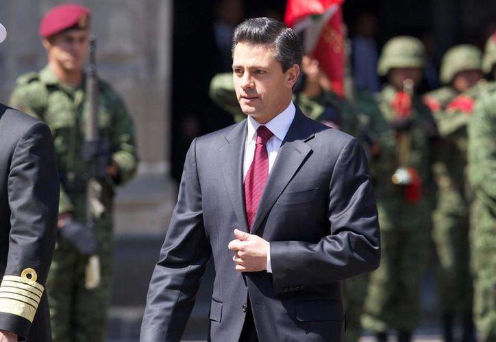 Peña Nieto jugó en un campo de 18 hoyos, pero al parecer sólo utilizó 10 hoyos. (Notimex)