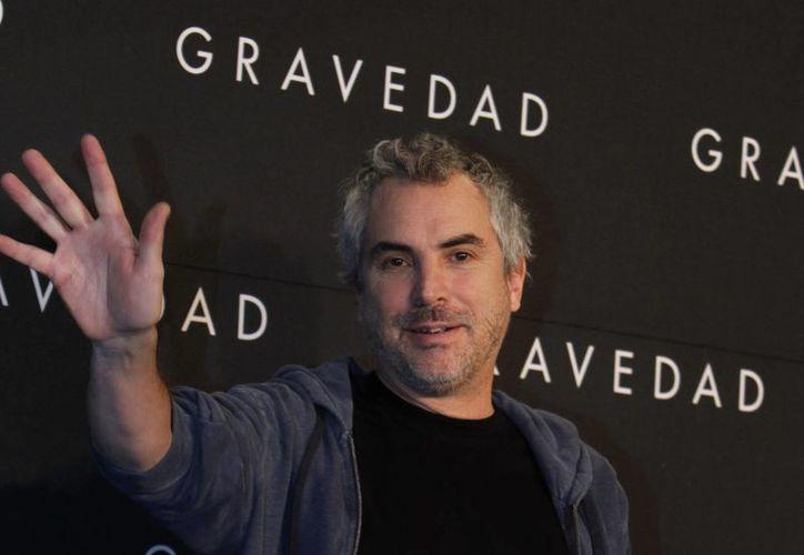 Alfonso Cuarón durante la presentación de Gravity (Gravedad) en México. (Agencias)