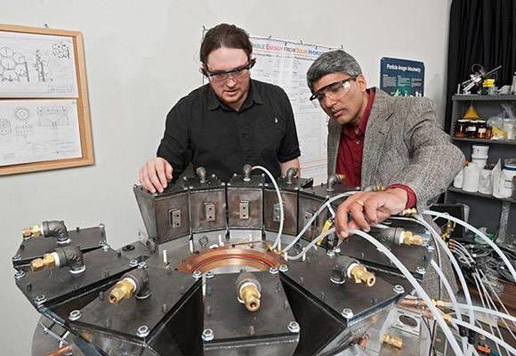 Reactor de producción de hidrógeno en la Universidad de Delaware, EU (www.medioambiente.org)