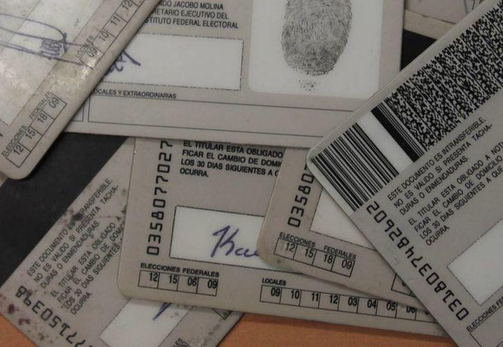 Están vigentes las credenciales en cuyos cuadros aparezcan los números 15 y 18, así como aquellas que al reverso no tengan números. (Harold Alcocer/SIPSE)