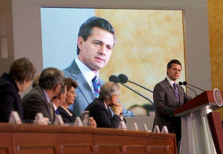 Peña Nieto: México está en la ruta para liberar todo el potencial económico. (Notimex)