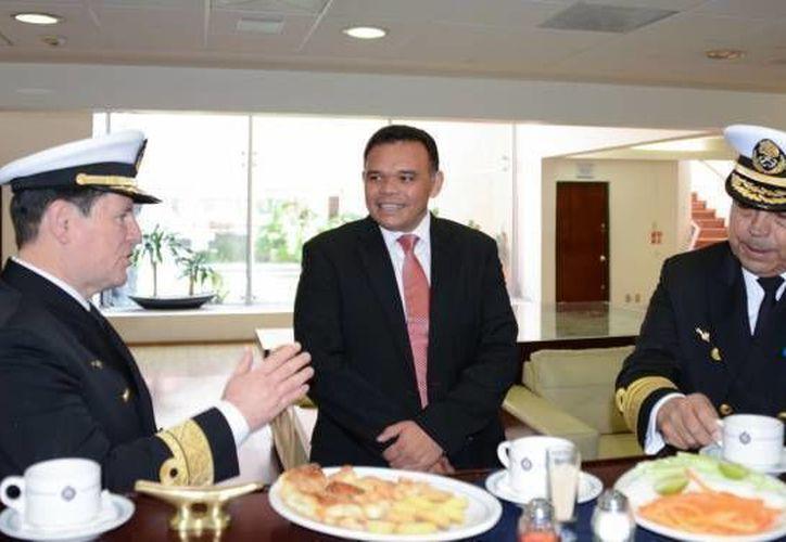 El mandatario estatal Rolando Zapata estará este viernes en un evento oficial en el Palacio de Gobierno.. (Milenio Novedades)