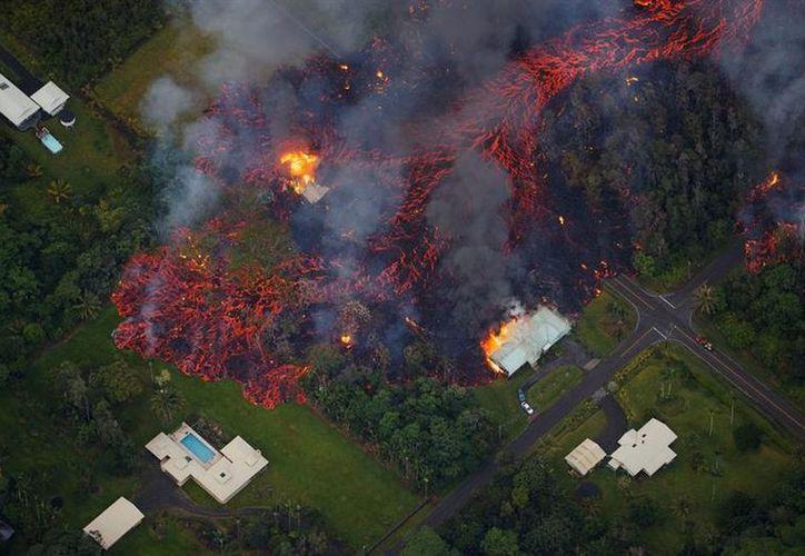 El parque de los volcanes quedó cerrado por tiempo indeterminado a partir del jueves. (AFP)