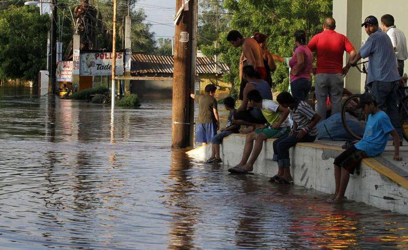 Afectaciones en Navolato, Sinaloa. Entre las entidades más dañadas por los huracanes están Guerrero y Veracruz. (Notimex)