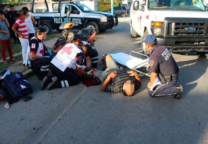 Vehículos de servicio público, particulares, motocicletas y bicicletas forman parte de las estadísticas de estos incidentes. (Daniel Tejada/SIPSE)