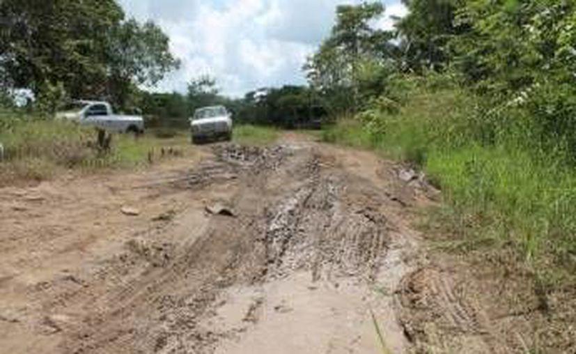 El comisario ejidal se comprometió a dar el apoyo necesario para la reparación, pero necesitaría el respaldo de las autoridades. (Edgardo Rodríguez/SIPSE)