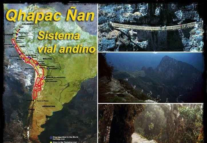 La red conocida como Qhapac Ñan (Camino Inca, en quechua) se extiende casi 60,000 km. Llega a toda la cordillera de los Andes en seis países. (Facebook/Unesco)