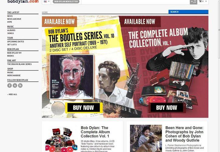El lanzamiento del video interactivo será este martes en la página oficial de Bob Dylan. (bobdylan.com)