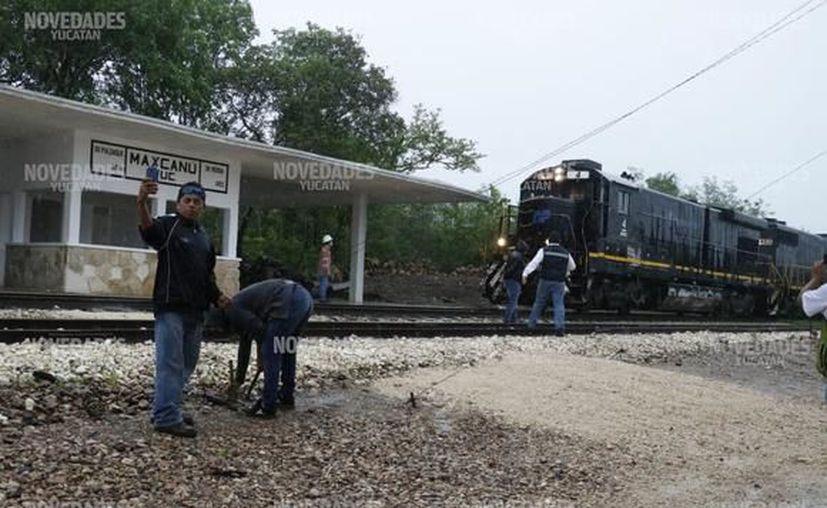 La construcción del tren maya será próximamente un detonante de empleos en la región. (Novedades Yucatán)