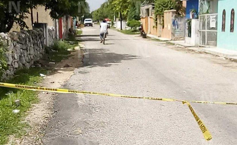 La tragedia se registró en la calle 32-A por 47 y 45 de la colonia Álvaro Obregón de Hunucmá. (Novedades Yucatán)