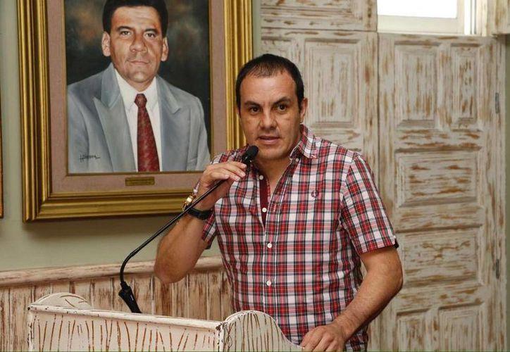 El alcalde de Cuernavaca, Cuauhtémoc Blanco, confirmó su ruptura con el Partido Social Demócrata. (Twitter.com/@CuauhtemocBco)