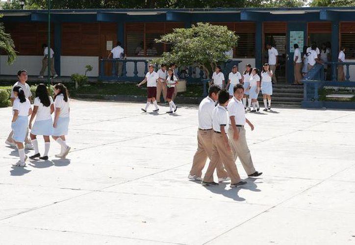 Las escuelas pasaron por un proceso de seis meses de monitoreo para verificar que sus edificios estuvieran libres de cacharros, sin criaderos de mosquito, con patios y azoteas limpios. (Redacción/SIPSE)