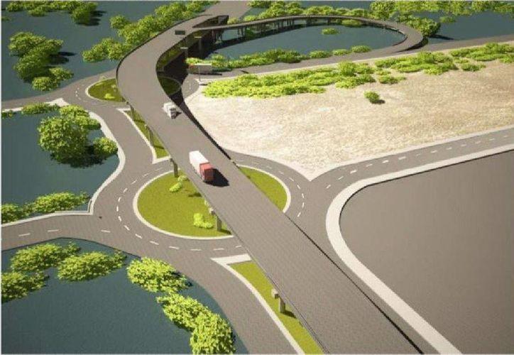 En la construcción del distribuidor vial en Progreso se invertirán 99.6 mdp. (Milenio Novedades)
