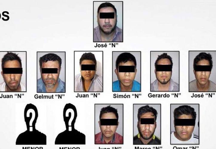 El juez de control declaró el pasado sábado la formal detención de los 10 adultos integrantes de la banda delictiva del Cartel de Jalisco Nueva Generación. (Excelsior)