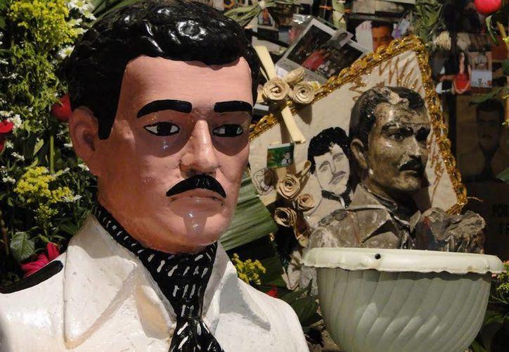 Pocas personas en Yucatán veneran a Jesús Malverde, el llamado santo de los pobres y de los narcotraficantes. (Jorge Moreno/SIPSE)