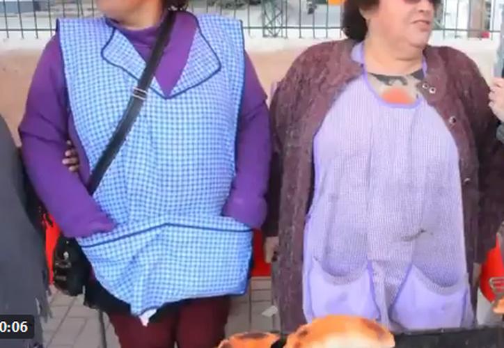 Un perro se robó la atención de internet al hurtar una empanada en televisión. (Captura Twitter).