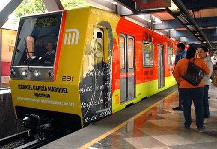 El tren porta el nombre y la imagen del extinto premio Nobel colombiano. (Milenio)