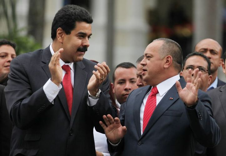 Nicolás Maduro y Diosdado Cabello, los más allegados al presidente Chávez. (Agencias)
