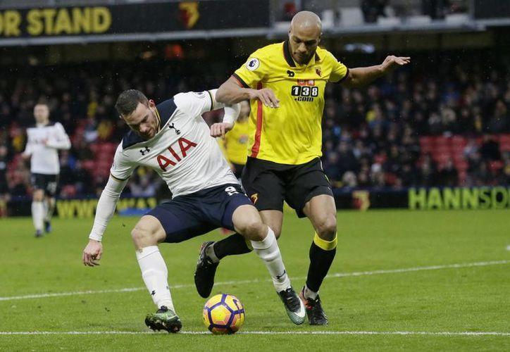 Con el triunfo ante Watford, el Tottenham se adueñó del tercere lugar de la clasificación de la Liga inglesa, con 39 puntos.(Tim Ireland/AP)